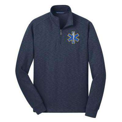 Jacket Slub Fleece 1/4-Zip Pullover - Port Authority - Style F295Fire Department Clothing