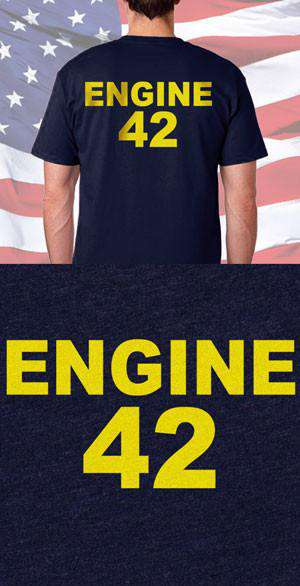 Screen Print Design Engine Number Back DesignFire Department Clothing