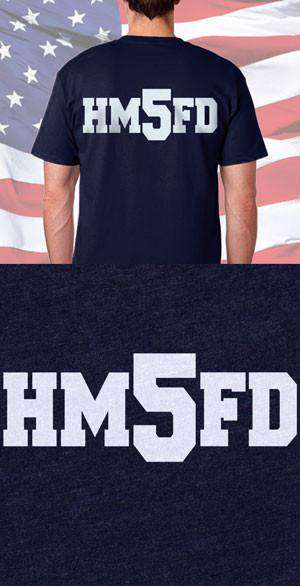 Screen Print Design HMFD Back DesignFire Department Clothing