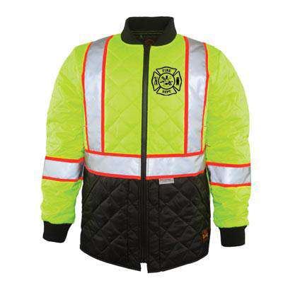 Jacket The Hi-Vis Quilted Jacket - Game Sportswear - Style 1275Fire Department Clothing