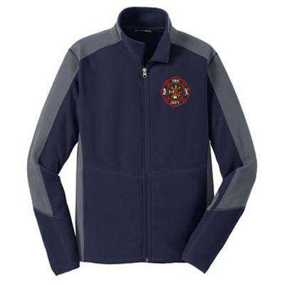 Jacket Colorblock Microfleece Jacket - Port Authority- Style F230Fire Department Clothing
