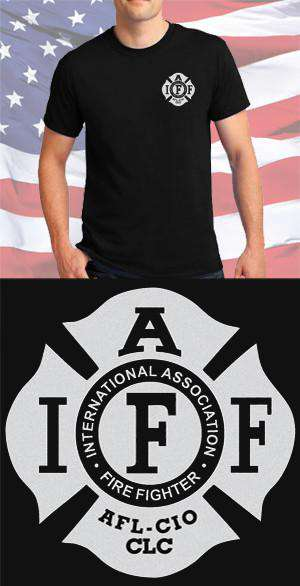 Screen Print Design IAFF Maltese CrossFire Department Clothing