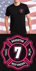 Screen Print Design Bakerton Fire Department Maltese CrossFire Department Clothing