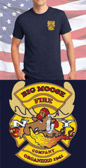 Screen Print Design Big Moose Fire Department Maltese CrossFire Department Clothing