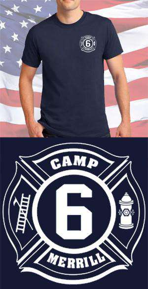 Screen Print Design Camp Merrill Fire Department Maltese CrossFire Department Clothing