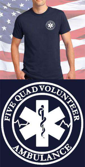 Screen Print Design Five Quad Ambulance Maltese CrossFire Department Clothing