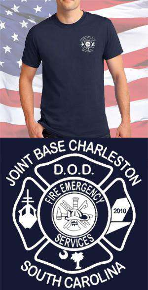 Screen Print Design Joint Base Charleston Fire Emergency Services Maltese CrossFire Department Clothing