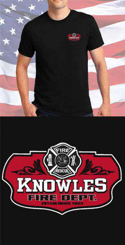 Screen Print Design Knowles Fire Department Maltese CrossFire Department Clothing