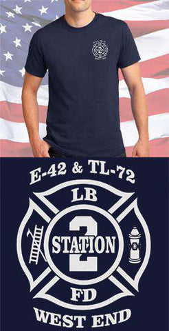 Screen Print Design Long Beach Fire Department Maltese CrossFire Department Clothing