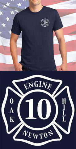 Screen Print Design Oak Hill Fire Department Maltese CrossFire Department Clothing