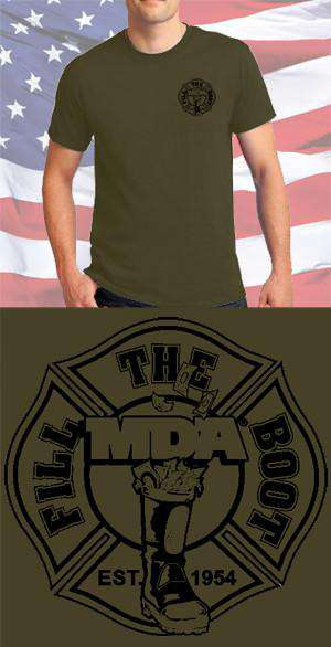 Screen Print Design MDA Fill the Boot Maltese CrossFire Department Clothing