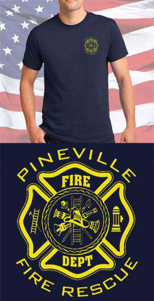 Screen Print Design Pineville Fire Department Maltese CrossFire Department Clothing