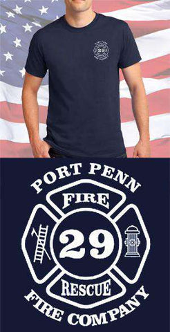Screen Print Design Port Penn Fire Department Maltese CrossFire Department Clothing