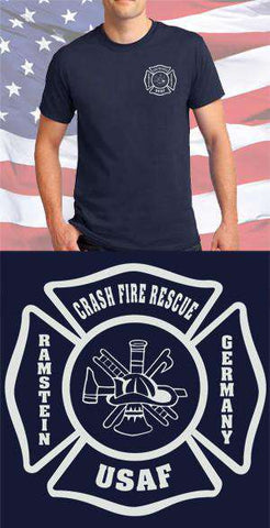 Screen Print Design Ramstein AFB Fire Department Maltese CrossFire Department Clothing