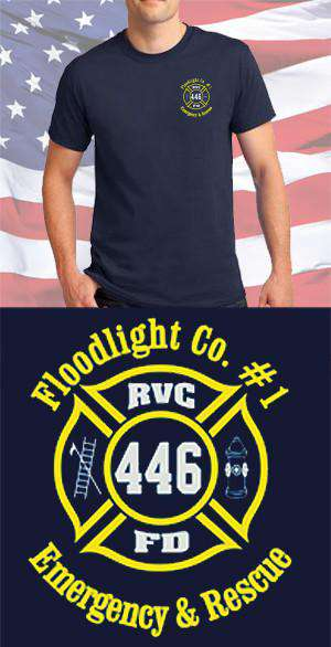 Screen Print Design Rockville Centre Fire Department Floodlight Maltese CrossFire Department Clothing