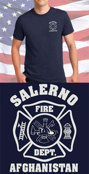 Screen Print Design Salerno Fire Department Maltese CrossFire Department Clothing