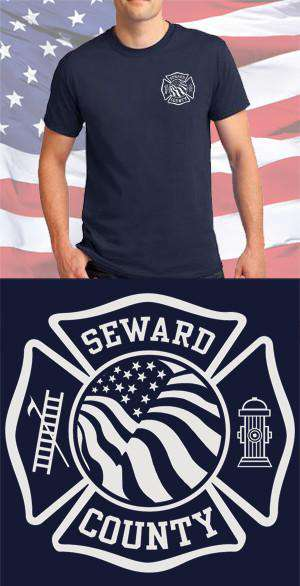 Screen Print Design Seward County Fire Department Maltese CrossFire Department Clothing