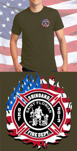 Screen Print Design Shindand Fire Department Maltese CrossFire Department Clothing
