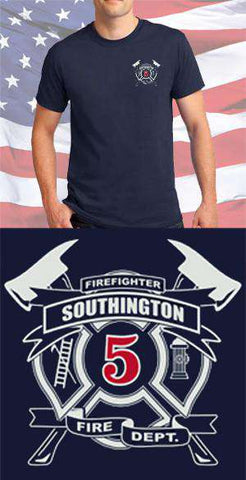 Screen Print Design Southington Fire Department Maltese CrossFire Department Clothing