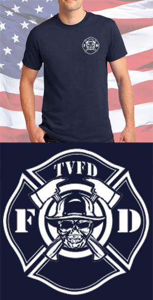 Screen Print Design Timmonsville Fire Department Maltese CrossFire Department Clothing