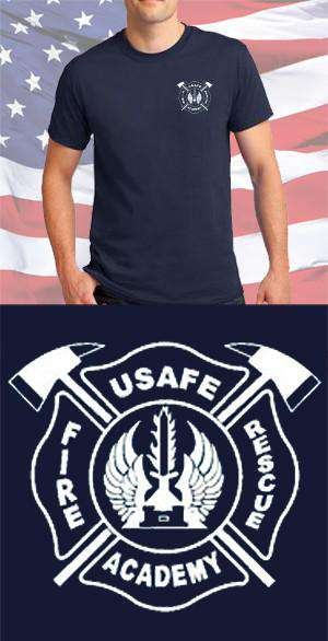 Screen Print Design USAFE Fire Academy Maltese CrossFire Department Clothing
