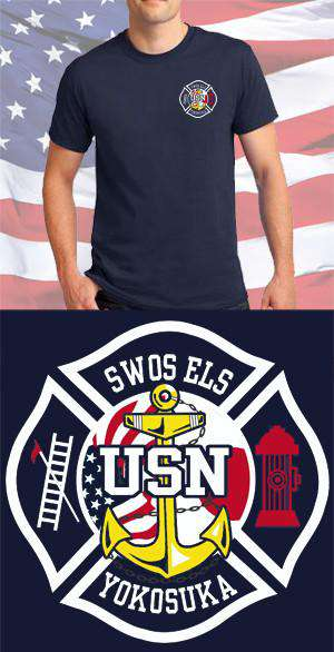 Screen Print Design US Navy SWOS Anchor Maltese CrossFire Department Clothing