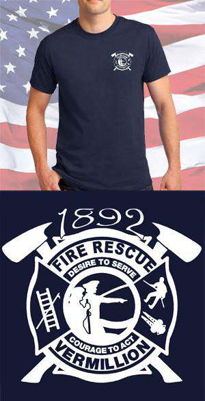 Screen Print Design Vermillion Fire Department Maltese CrossFire Department Clothing