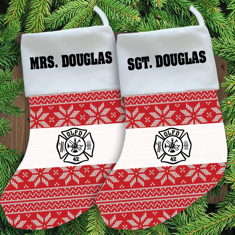 Firefighter Christmas Stocking - Personalized - HS23 - SUB