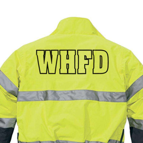 "4"" Printed Letters on Back - CADFire Department Clothing"