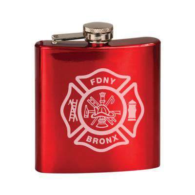 Laser Engraved Accesory Custom Maltese Stainless Steel Flask- LZRFire Department Clothing