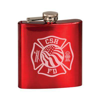 Laser Engraved Accesory Custom Flag Maltese Stainless Steel Flask - LZRFire Department Clothing