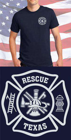 Screen Print Design Texas Rescue Maltese CrossFire Department Clothing