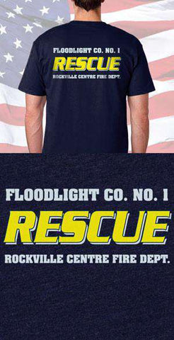 Screen Print Design Rockville Centre Fire Department Rescue Back DesignFire Department Clothing