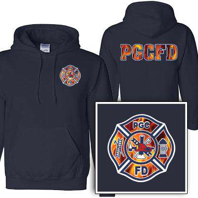 Custom Printed Fire Maltese Pattern Sweatshirt - Gildan G125 - DIG