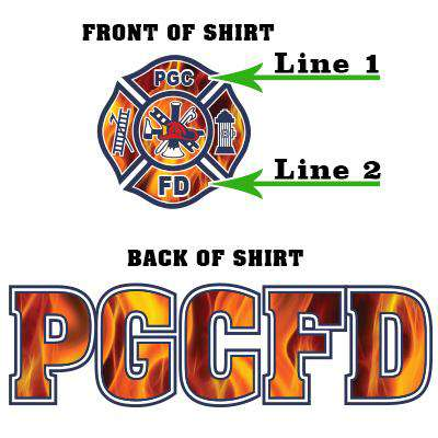 Customization Custom Printed Fire Maltese Pattern Crewneck Sweatshirt - Gildan G120 - DIGFire Department Clothing