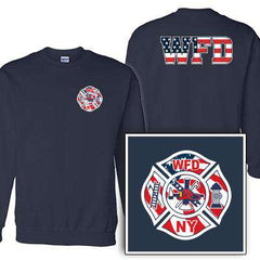 Customization Custom Printed Flag Maltese Pattern Crewneck Sweatshirt - Gildan G120 - DIGFire Department Clothing