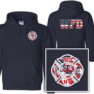 Customization Custom Printed Flag Maltese Pattern Sweatshirt - Gildan G125 - DIGFire Department Clothing