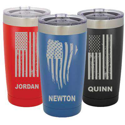 Custom 20oz Polar Camel Vacuum Tumbler with Flag - LTM924 - LZR