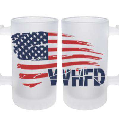 Frosted Mug with American Flag Design - SG16F - SUBFire Department Clothing
