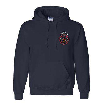 Sweatshirt Embroidered Scramble Maltese DryBlend 50/50 Hooded Sweatshirt - Gildan - Style G125Fire Department Clothing