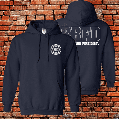 Fireman Special - Custom Hooded Sweatshirt - G185Fire Department Clothing