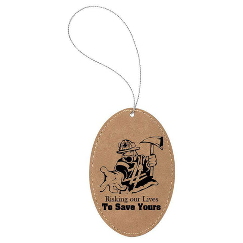 Laser Engraved Accesory Oval Ornament-GFT1080-LZRFire Department Clothing