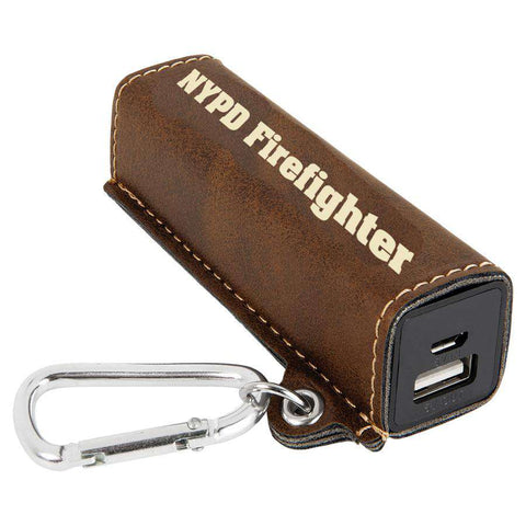 Laser Engraved Accesory Portable Charger with USB Cord-GFT1143-LZRFire Department Clothing