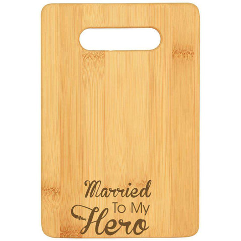 Laser Engraved Accesory Bamboo Bar Cutting Board-GFT219-LSRFire Department Clothing
