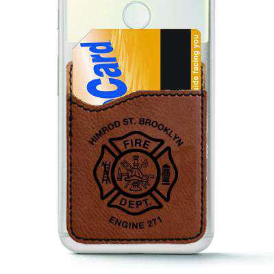Custom Fire Department Leatherette Cell Phone Wallet - LZR