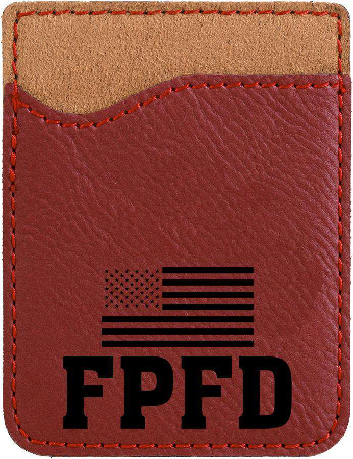 Rose Laserable Leatherette Phone Wallet - LZRFire Department Clothing
