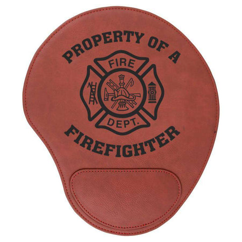 Laser Engraved Accesory Laserable Leatherette Mouse Pad- GFT629-LZRFire Department Clothing
