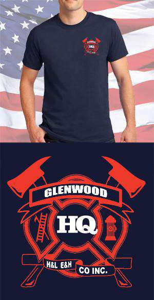 Screen Print Design Glenwood HQ Fire Department Maltese CrossFire Department Clothing