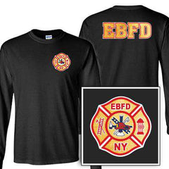 Customization Custom Printed Gold Foil Maltese Pattern Long Sleeve Shirt - Gildan G240 - DIGFire Department Clothing