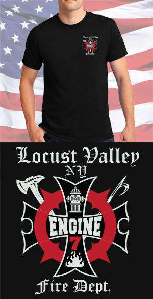 Screen Print Design Locust Valley Fire Department Maltese CrossFire Department Clothing